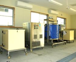 中土佐町に設置された小型製氷システム