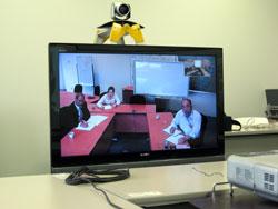 画面に映る梼原会議室