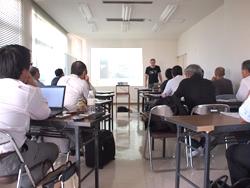 高知工科大学地域連携機構・菊池豊教授の講演