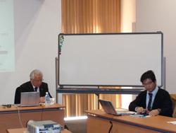 陽先生(左)と司会の渡邊先生